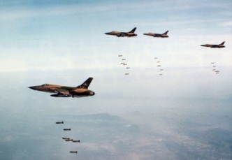 USAAF drop bombs on Vietnam