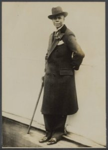 2. A Dapper Hubert Julian, the Black Eagle of Harlem, on His Way to New York After Being Expelled from Ethiopia (Nationaal Archief)